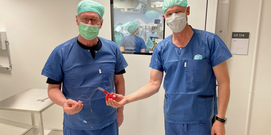 First implanted artificial tubular muscle